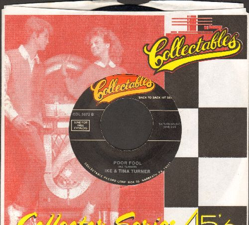 Turner, Ike & Tina - Poor Fool/Moments (double-hit re-issue with company sleeve) - NM9/ - 45 rpm Records