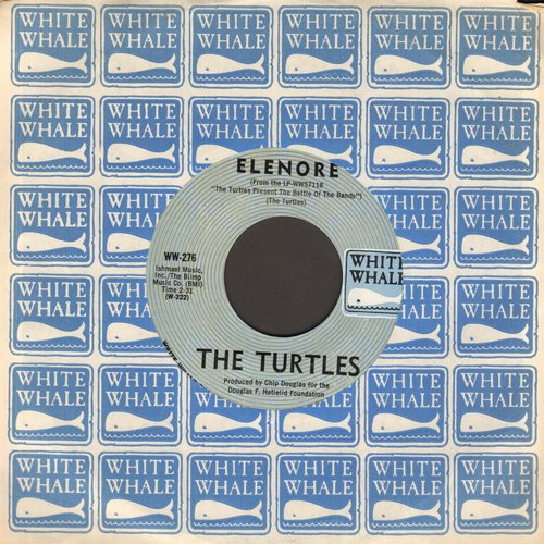 Turtles - Elenore (Gee, I Think You're Swell)/Surfer Dan (with RARE White Whale company sleeve) - NM9/ - 45 rpm Records