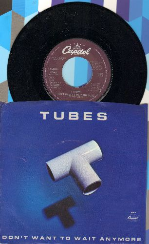 Tubes - Don't Want To Wait Anymore/Think About Me (with picture sleeve) - NM9/EX8 - 45 rpm Records