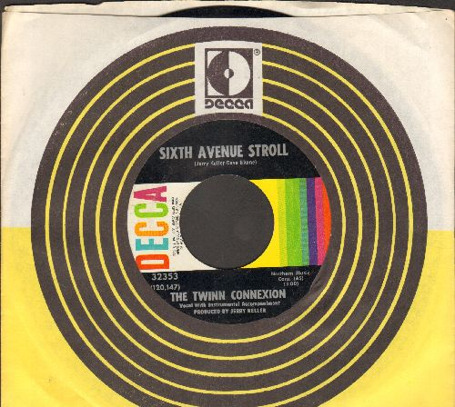 Twinn Connexion - Sixth Avenue Stroll/Oh What A Lovely Day (FANTASTIC Psychedelic Rock 2-sider with vintage Decca company sleeve) - EX8/ - 45 rpm Records