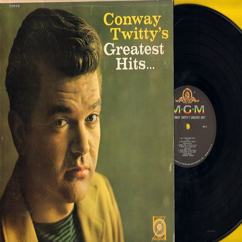 Twitty, Conway - Conway Twitty's Greatest Hits: It's Only Make Believe, Danny Boy, Lonely Blue Boy, Halfway To Heaven, Is A Bluebird Blue?, What Am I Living For (vinyl MONO LP record) - NM9/NM9 - LP Records