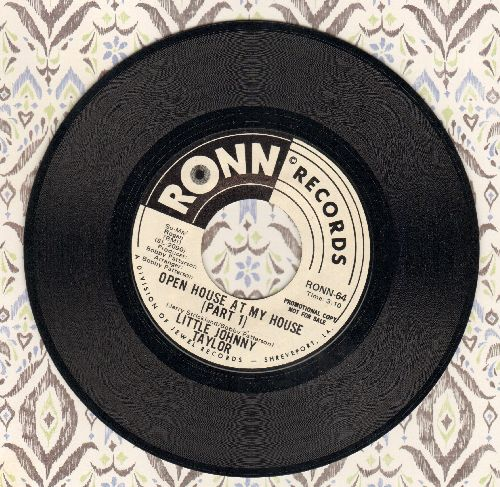 Taylor, Little Johnny - Open House At My House (Parts 1 + 2) (DJ advance pressing) - NM9/ - 45 rpm Records