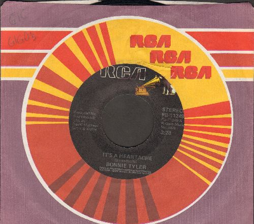 Tyler, Bonnie - It's A Heartache/It's About Time (with RCA company sleeve) - VG7/ - 45 rpm Records