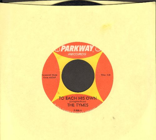 Tymes - To Each His Own/Wonderland Of Love - EX8/ - 45 rpm Records