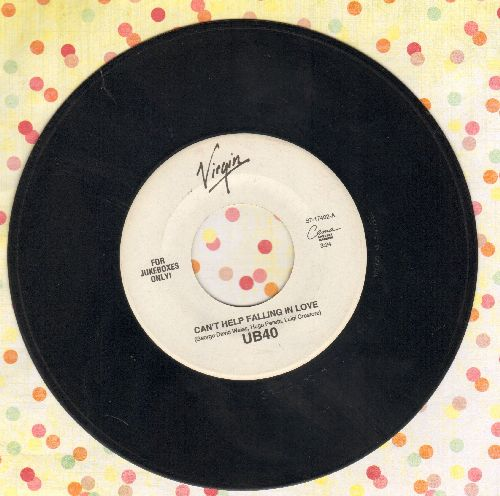 UB40 - Can't Help Falling In Love/Jungle Love (Special Juke Box Pressing) - EX8/ - 45 rpm Records
