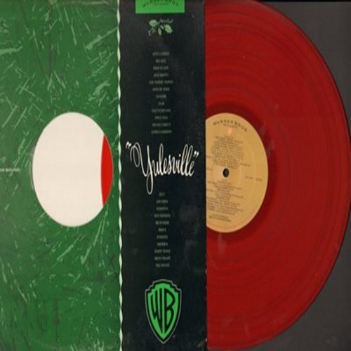 Byrnes, Edd, Julie Brown, Ramones, Prince, Bee Gees, Ice T, others - Yulesville: Silent Night, My Night Before Christmas, Merry Christmas, I'm Getting Nothin' For Christmas (RARE red vinyl pressing featuring various Warner Brothers Artists) - NM9/EX8 - LP