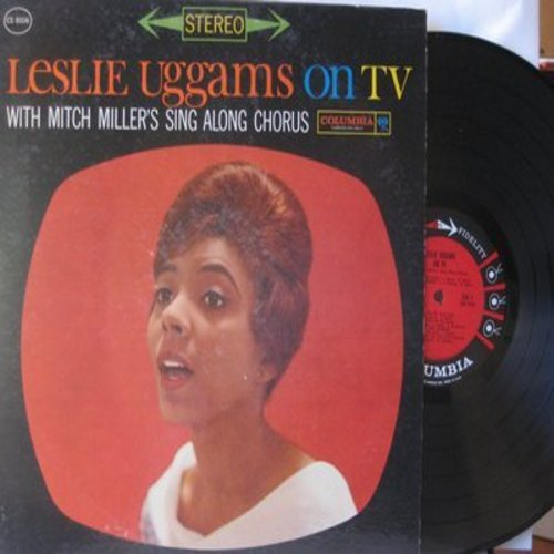 Uggams, Leslie - Leslie Uggams On TV - With Mitch Miller's Sing Along Chorus: Over The Rainbow, The Boy Next Door, Birth Of The Blues, Get Happy, Trolley Song, Lonesome Road (vinyl STEREO LP record) - EX8/EX8 - LP Records