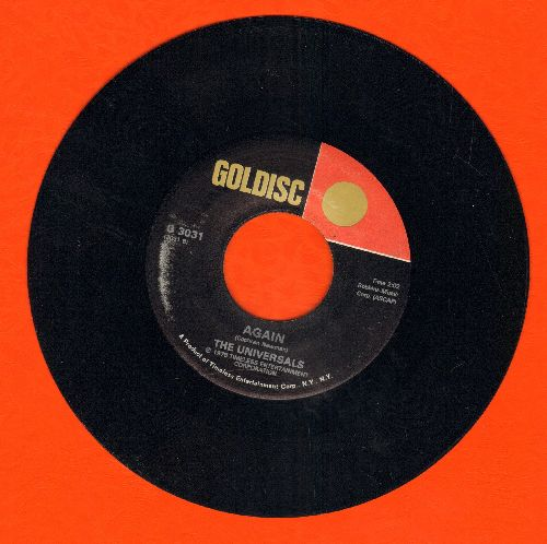 Universals - Again/Trickle Trickle (by The Videos on flip-side) (re-issue) - EX8/ - 45 rpm Records