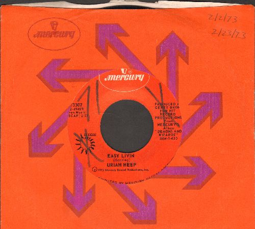 Uriah Heep - Easy Livin/All My Life (with Mercury company sleeve) - EX8/ - 45 rpm Records