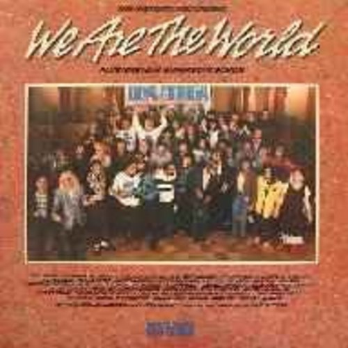 USA For Africa featuring Michael Jackson - We Are The World: 7 minute version of legendary Hunger Relief Recording + 9 new superstar songs (vinyl STEREO LP record, gate-fold cover first issue) - NM9/EX8 - LP Records