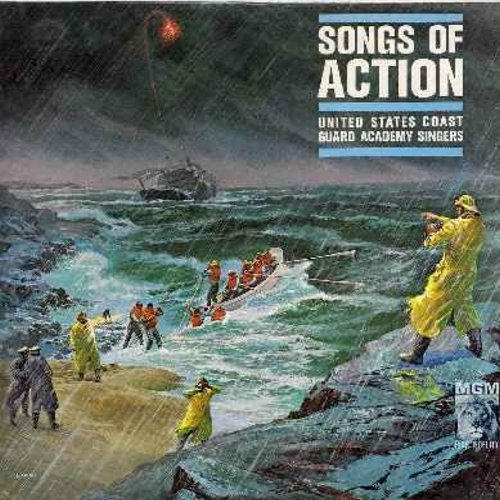 United States Coast Guard Singers - Songs Of Action: Bowery Grenadiers, Around Her Neck She Wore A Yellow Ribbon, Lorelei, When Johnny Comes Marching Home, Battle Hymn Of The Republic, On Our Way (vinyl MONO LP record, NICE condition) - M10/NM9 - LP Recor