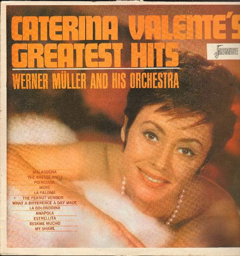 Valente, Caterina - Caterina Valente's Greatest Hits: The Peanut Vendor, More, Malaguena, The Breeze And I, What A Difference A Day Made (vinyl LP record, British Pressing re-issue) - M10/EX8 - LP Records