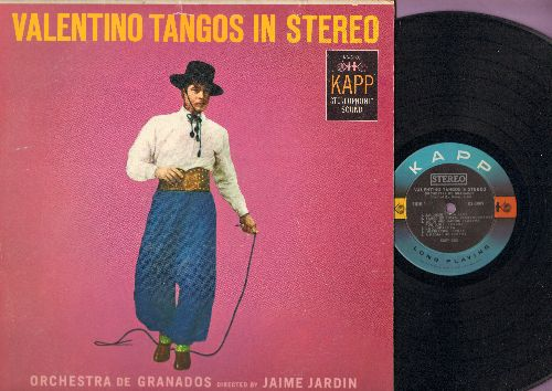 Orchestra De Granados, directed by Jaime Jardin - Valentino Tangos In Stereo: The Sheik Of Araby, Nostalgias, No Other Love, La Cumparista (vinyl STEREO LP record) - NM9/EX8 - LP Records