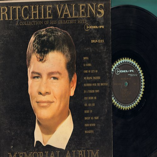 Valens, Ritchie - Ritchie - Memorial Album: Donna, We Belong Together, La Bamba, Come On Let's Go, Hurry Up (vinyl MONO LP record) - VG7/VG7 - LP Records