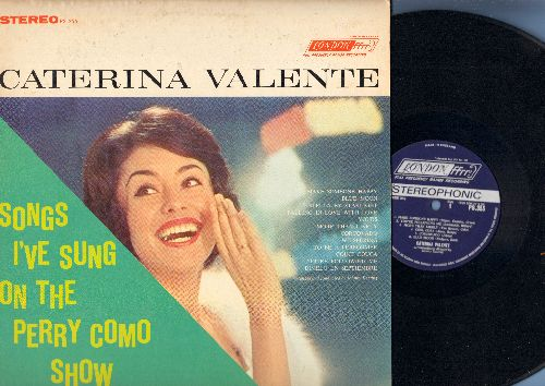 Valente, Caterina - Songs I've Sung On The Perry Como Show: Blue Moon, Make Someone Happy, Stella By Starlight, Dimelo En Septiembre (vinyl STEREO LP record, British Pressing) - NM9/EX8 - LP Records