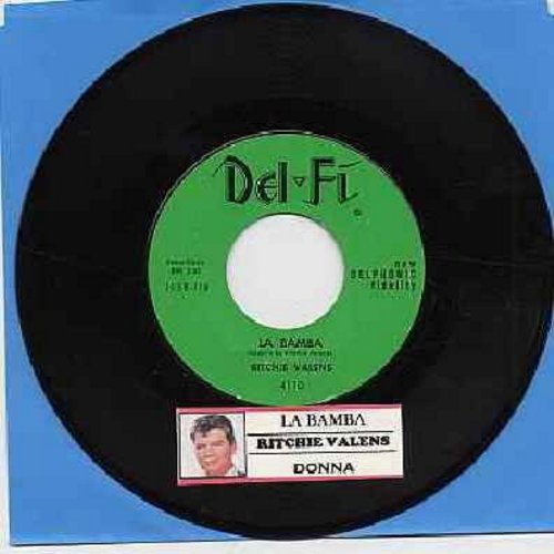 Valens, Ritchie - La Bamba/Donna (turquoise label, black script logo with juke box label)(sol) - VG6/ - 45 rpm Records