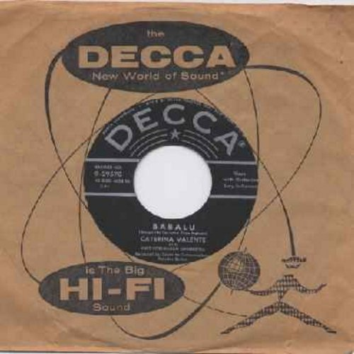 Valente, Caterina - Babalu (sung in German)/This Must Be Wrong (with original company sleeve) - EX8/ - 45 rpm Records