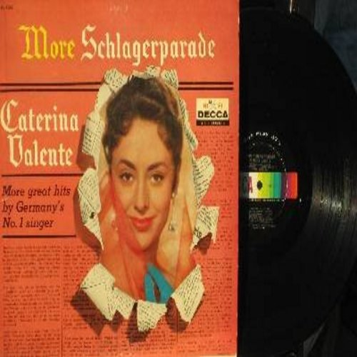 Valente, Caterina - More Schlagerparade: Romeo, Mahl sehn Kapitaen, Schwarze Engel, Papa Piccolino, Pardon Madame, Amadeo ich will warten (vinyl STEREO LP record, US Pressing, sung in German) - EX8/EX8 - LP Records