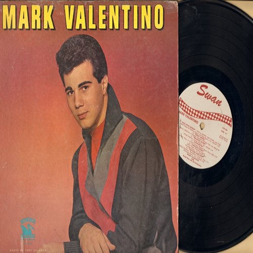 Valentino, Mark - Mark Valentino: Earth Angel, Walking Alone, The Push And Kick, Sixteen Candles, Personality, You Send Me (vinyl MONO LP record) - EX8/VG6 - LP Records