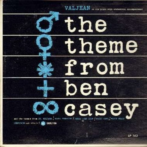 Valjean - The Theme From Ben Casey: Dr. Kildare, Wagon Train, Bonanza, Peter Gun, Gunsmoke, Perry Como Show, Naked City (vinyl MONO LP record) - NM9/EX8 - LP Records