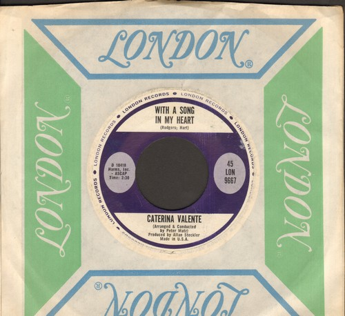 Valente, Caterina - With A Song In My Heart/When In Rome (MINT condition with vintage London company sleeve) - M10/ - 45 rpm Records