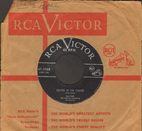 Valli, June - Crying In The Chapel/Love Every Moment You Live (with RCA company sleeve) - EX8/ - 45 rpm Records