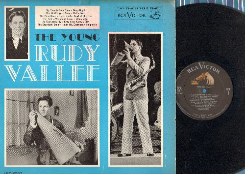 Vallee, Rudy - The Young Rudy Vallee: The Whiffenpoof Song, Betty Coed, As Time Goes By, Kitty From Kansas City (vinyl MONO LP record, 1962 Pressing) - EX8/VG7 - LP Records
