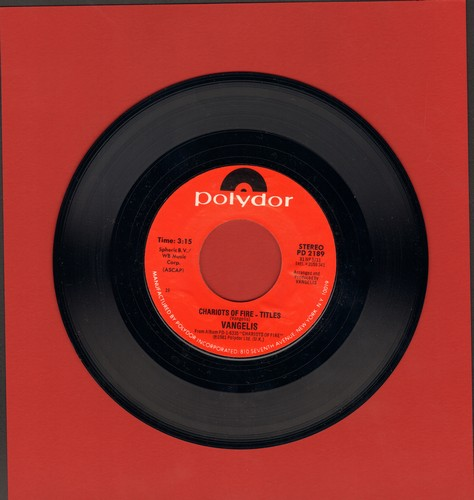 Vangelis - Charitos Of Fire/Eric's Theme - VG7/ - 45 rpm Records