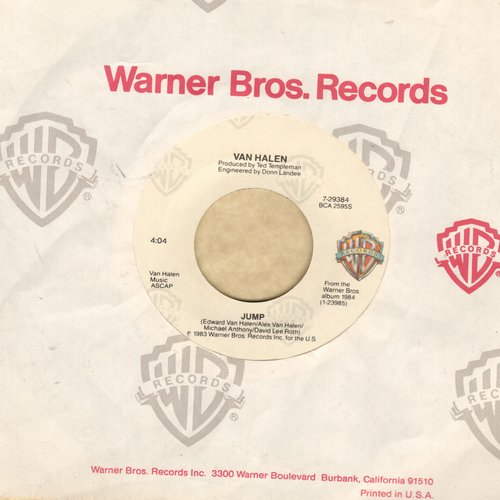 Van Halen - Jump/House Of Pain  - EX8/ - 45 rpm Records