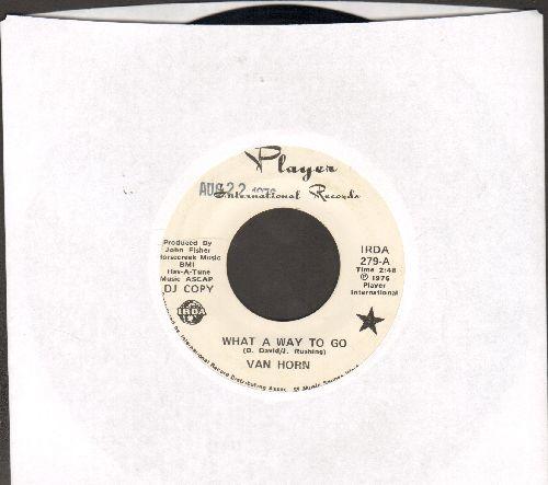 Van Horn - What A Way To Go/If I'm Any Good (DJ advance pressing) - NM9/ - 45 rpm Records