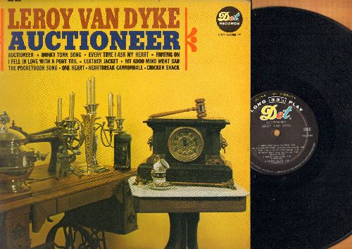 Van Dyke, Leroy - Auctioneer: Every Time I Ask My Heart, Moving On, Leather Jacket, Heartbreak Cannonball, Chicken Shack, The Pocketbook Song (vinyl MONO LP record) - NM9/NM9 - LP Records