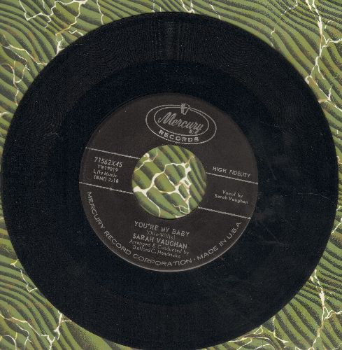 Vaughan, Sarah - You're My Baby/Eternally - EX8/ - 45 rpm Records