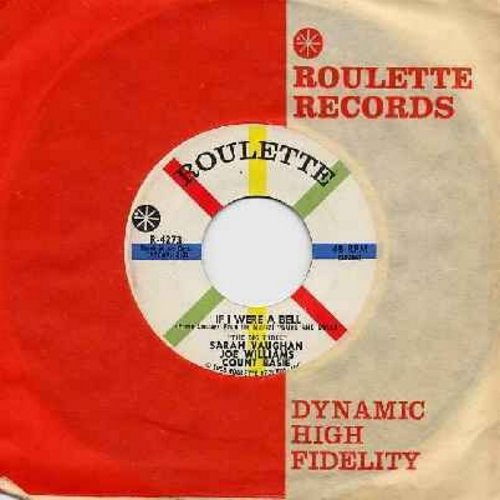 Vaughan, Sarah, Joe Williams, Count Basie - Teach Me Tonight/If I Were A Bell (with Roulette company sleeve) - M10/ - 45 rpm Records