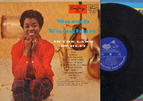 Vaughan, Sarah - In The Land Of Hi-Fi: Over The Rainbow, How High The Moon, Maybe, Cherokee, Sometimes I'm Happy (vinyl MONO LP record, blue label first pressing) - EX8/EX8 - LP Records