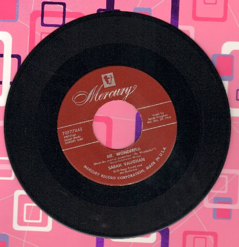 Vaughan, Sarah - Mr. Wonderful/You Ought To Have A Wife - NM9/ - 45 rpm Records