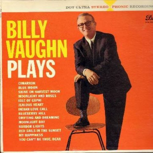 Vaughn, Billy - Billy Vaughn Plays: Blue Moon, My Happiness, Blueberry Hill, Indian Love Call, Moonlight Bay (vinyl STEREO LP record) - NM9/EX8 - LP Records