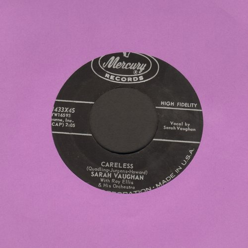 Vaughan, Sarah - Careless/Separate Ways - VG6/ - 45 rpm Records