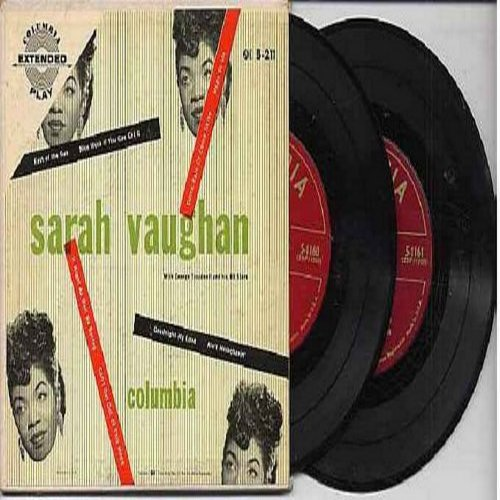 Vaughan, Sarah - Sarah Vaughan: Goodnight My Love/Ain't Misbehavin'/Nice Work If You can Get It/East Side West Side/It Might As Well Be Spring/Can't Get Out Of This Mood/Come Rain Or Come Shine/Mean To Me (2 vinyl EP record set, gate-fold cover, counts as