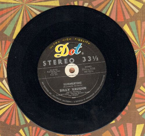 Vaughn, Billy & His Orchestra - Summertime/My Dear (RARE 7 inch 33rpm STEREO record) - EX8/ - 45 rpm Records