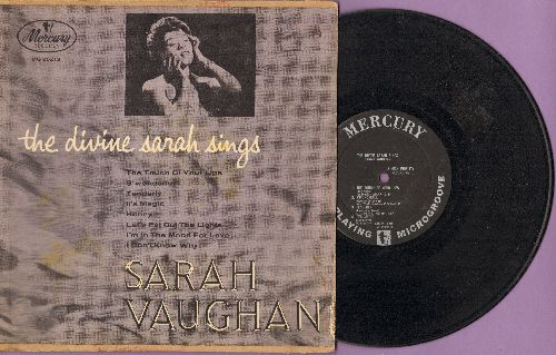 Vaughan, Sarah - The Divine Sarah Sings:  Honey, Let's Put Out The Lights, I Don't Know Why, S'Wonderful, It's Magic (10 inch LP with picture cover) - EX8/VG6 - LP Records
