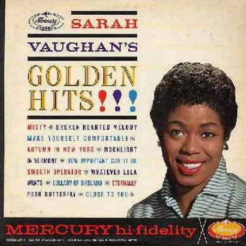 Vaughan, Sarah - Golden Hits!: Misty, Broken Hearted Melody, Make Yourself Comfortable, Whatever Lola Wants, Smooth Operator (vinyl MONO LP record) - EX8/EX8 - LP Records