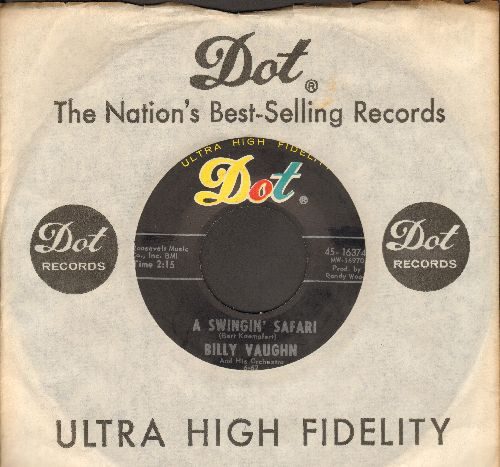 Vaughn, Billy & His Orchestra - A Swinging Safari/Indian Love Call (with Dot company sleeve) - NM9/ - 45 rpm Records
