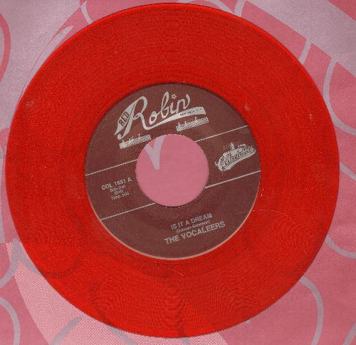 Vocaleers - Hurry Home/It Is A Dream (authentic-looking double-hit re-issue, Red Vinyl pressing) - NM9/ - 45 rpm Records