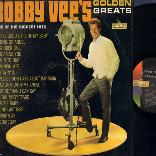 Vee, Bobby - Golden Greats: Take Good Care Of My Baby, Devil Or Angel, Rubber Ball, Run To Him, Punish Her, Please Don't Ask About Barbara, More Than I Can Say (vinyl MONO LP record) - EX8/EX8 - LP Records