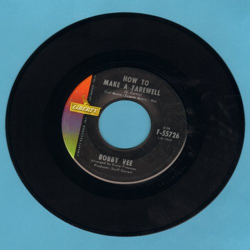 Vee, Bobby - How To Make A Farewell/Where Is She? (MINT condition) - M10/ - 45 rpm Records
