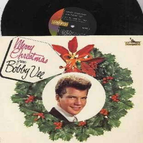 Vee, Bobby - Merry Christmas: Winter Wonderland, I'll Be Home For Christmas, My Christmas Love, Jingle Bell Rock, A Not So Merry Christmas, There's No Place Like Home For The Holidays (vinyl MONO LP record, NICE condition!) - VG7/VG6 - LP Records