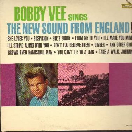 Vee, Bobby - The New Sound From England!: She Loves You, From Me To You, I'll Make You Mine, Suspicion, Ginger (vinyl MONO LP record) - M10/EX8 - LP Records