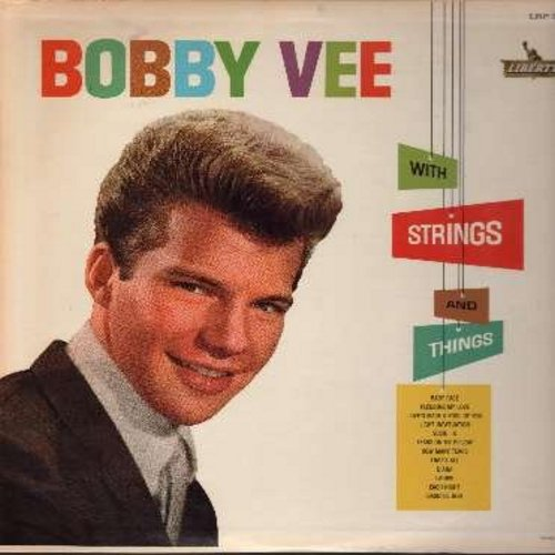 Vee, Bobby - With Strings And Things: Baby Face, Tears On My Pillow, Pledging My Love, Laurie, Diana, How Many Tears (vinyl MONO LP record, RARE DJ advance copy, NICE condition!) - M10/NM9 - LP Records