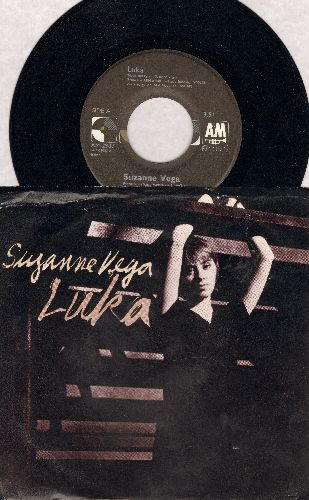 Vega, Suzanne - Luka (song dealing with the issue of child abuse)/Night Vision (with picture sleeve, song lyrics on back) - NM9/EX8 - 45 rpm Records