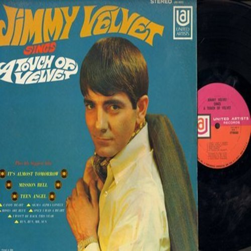 Velvet, Jimmy - A Touch Of Velvet: Teen Angel, It's Almost Tomorrow, Mission Bell, Once I Had A Heart (vinyl STEREO LP record) - M10/NM9 - LP Records